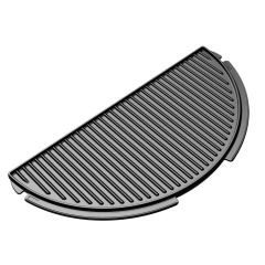 The Big Green EGG Half-Moon Cast Iron Plancha Griddle
