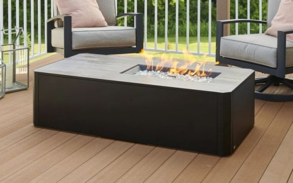 Outdoor GreatRoom Company Kinney Linear Gas Fire Pit Table