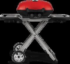Napoleon TravelQ 285X w/Scissor Cart & Griddle (Red)