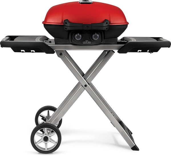 Napoleon TravelQ 285X w/Scissor Cart & Griddle (Red)