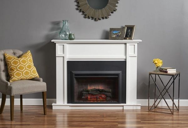 Outdoor GreatRoom Company Heritage Cabinet w/Gallery Electric Fireplace