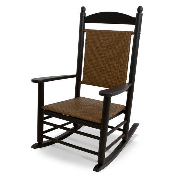 Ploywood Jefferson Woven Rocking Chair