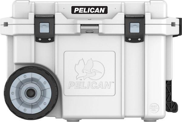 Pelican 45qt Elite Wheeled Cooler - White & Gray