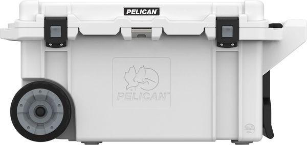 Pelican 80qt Elite Wheeled Cooler - White & Gray