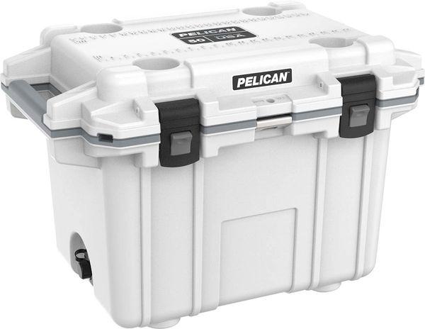 Pelican 50qt Elite Cooler - White & Gray