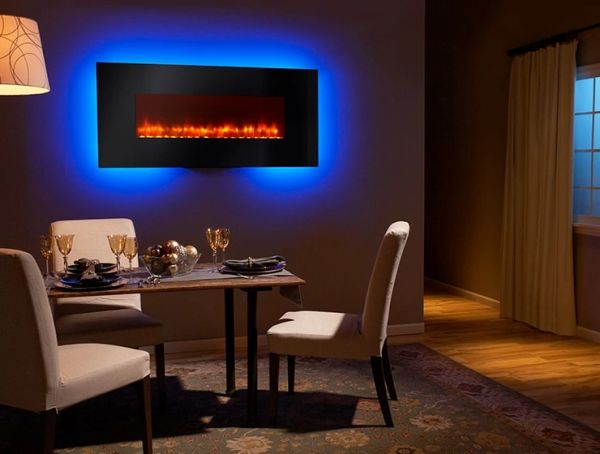 Simplifire Modern Wall Mount Electric Fireplace