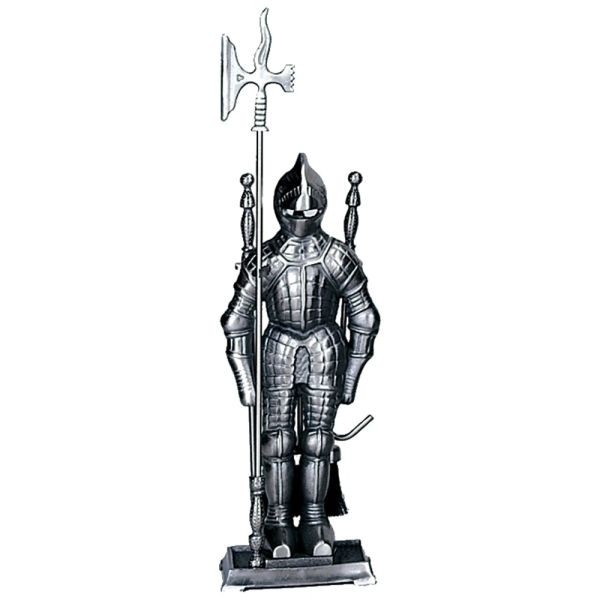 Uniflame Pewter Soldier Fire Set