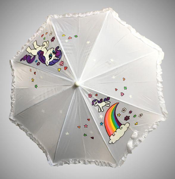 Ruffled Girls Umbrella with 2 Designs