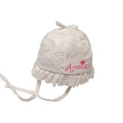 Eyelet Ruffle Bonnet Hat