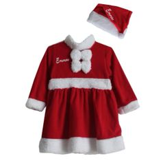 Santa Dress and Matching Hat (Fleece)