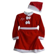 Santa Dress and Matching Hat (Velvet)