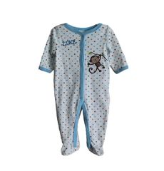 Sleep N Play Blue Monkey Romper
