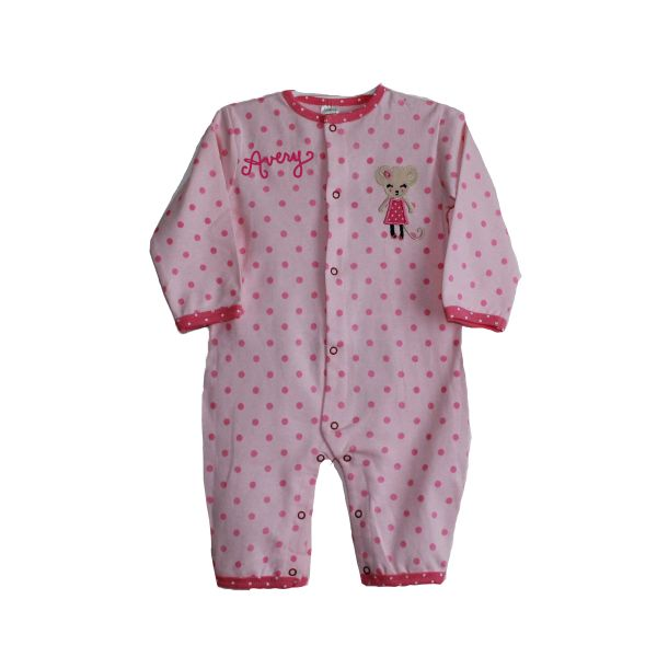 Sleep N Play Pink Mouse Romper