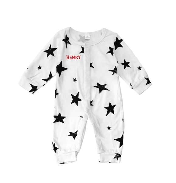 Long Sleeve Star Romper Unisex