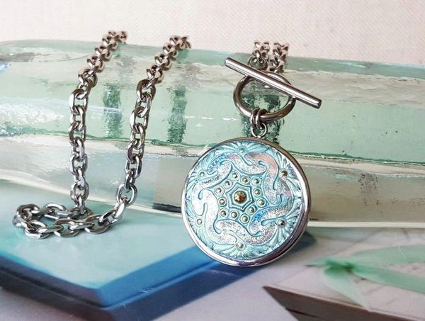 CAPRI - Aqua Glass Necklace