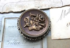 BRIANNA - Antique Button Brooch