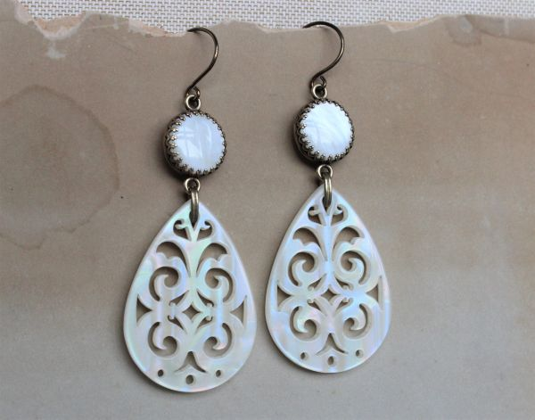 ALISHA - Pearl Filigree Earrings