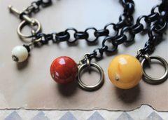 WILMA - (2) Chunky Black Chain Bracelets