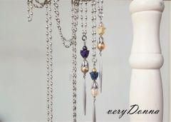Lampwork Glass Flower Necklace, Long