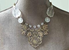 VIKA - Metal Lace Bib Necklace