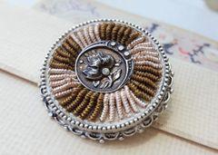 CARA - Vintage Textile Brooch