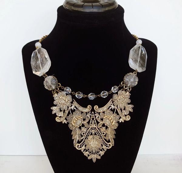 VIKI - Lace Bib Statement Necklace