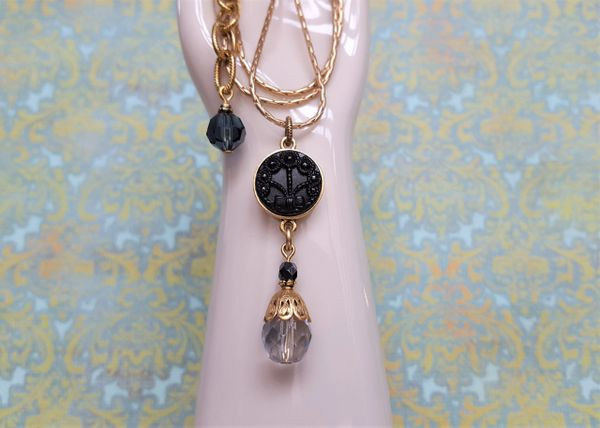 OPHELIA - Antique Button Necklace