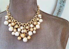 Baroque Pearl Bib Necklace