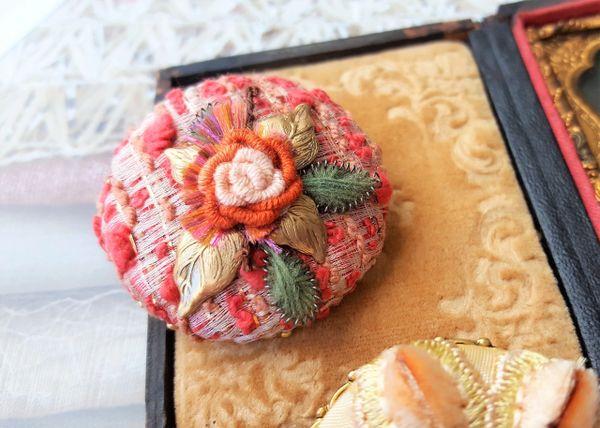 BLAIR - Textile Art Brooch