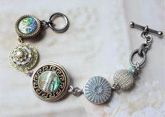 MARCH - Button Charm Bracelet