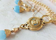 SKYLAR - Antique Button Necklace