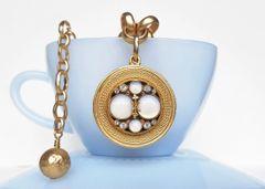 Antique, Opal Glass Necklace
