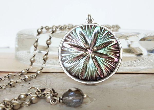 CORY - Antique Button Necklace