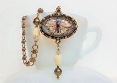 SASCHA - Butterfly Intaglio Necklace