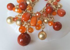 ORA - Orange Beaded Statement Necklace