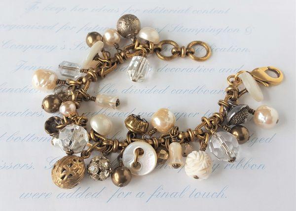 PEARLINE - Antique Button and Bauble Bracelet