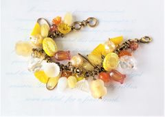SHINE - Lemon Yellow Beaded Charm Bracelet