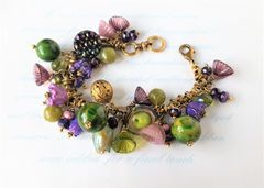 PLUMROSE - Glass Beaded Charm Bracelet