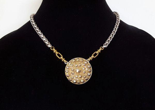 SANSA - Antique Button Necklace