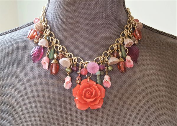 The Summer GARDEN - Floral Bib Necklace