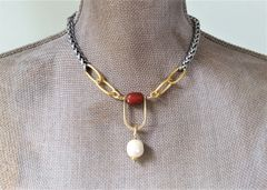 The Carnelian U Necklace