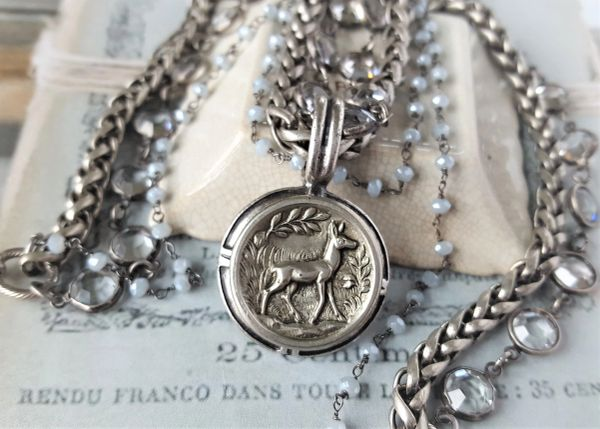 Oh Deer! - Woodland Scene, Cameo Necklace