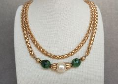 LENA - Double Strand Baroque Pearl Necklace
