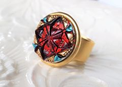 GEO - Colorful Art Glass Ring