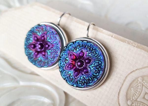 MANDA - Czech Art Glass Earrings
