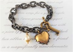 HEART O' GOLD - Chunky Gold Heart Bracelet