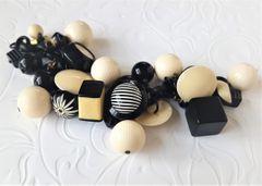 FUN - Art Deco Black and Cream Bracelet