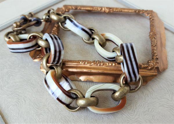 Vintage Lucite Link Bracelet
