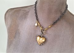 Heart O' Gold, Mixed Link Necklace