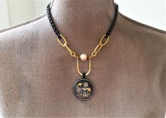 AKARI - Two-Toned, Japanese Damascene Necklace